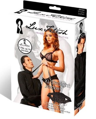 Черная смирительная рубашка унисекс от LUX FETISH LF1476L/XL